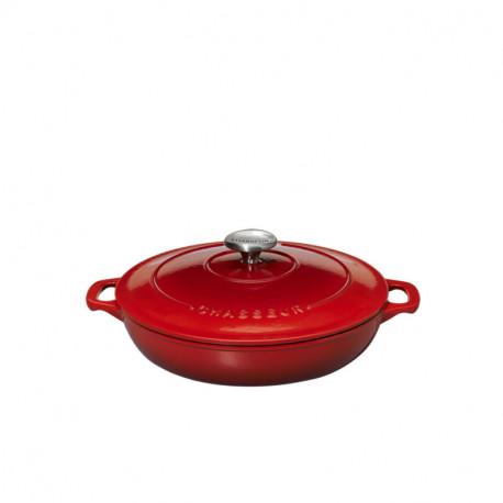 Round serving casseroles