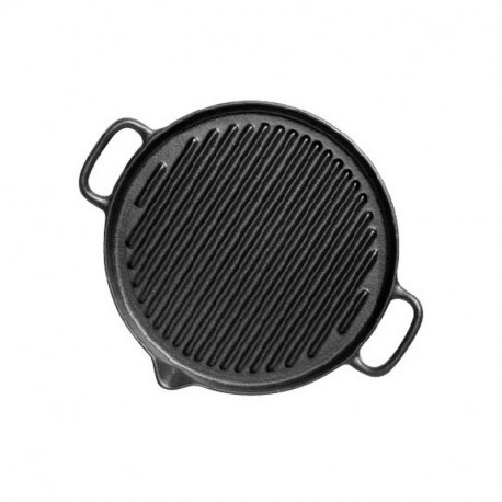 Dual handle round grill
